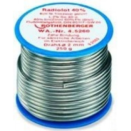 Припой для пайки электроники 1,5ММ L-SN 60PB CU2, катушка, 100г