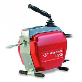К-т: машина для чистки труб R550, 250Вт, 5 спиралей 16мм, насадки и принадлежности Rothenberger-79890X