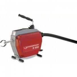 К-т: машина для чистки труб R600, 400Вт, 5 спиралей 22мм, насадки и принадлежности Rothenberger-72675