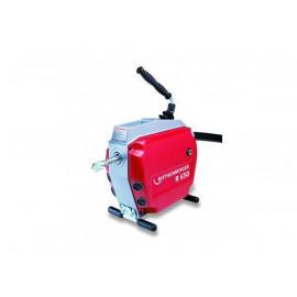 К-т: машина для чистки труб R650, 750Вт, 5 спиралей 22мм, насадки и принадлежности Rothenberger-72680