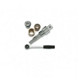 К-т: трещетка и 4 головки в метал.ящике, М6-М12